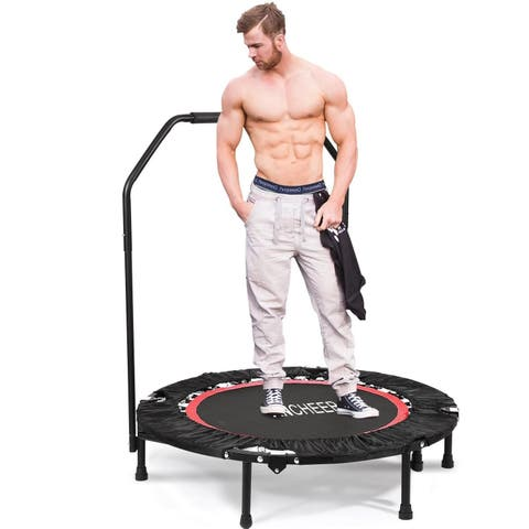 Adjustable Angle 40inch Mini Rebounder Trampoline with Adjustable Handrail
