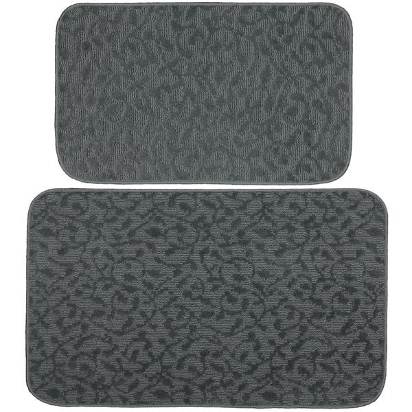 Shop Porch Den Helvetia Cinder Grey Ivy Pattern 2 Pieiece