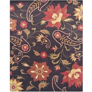 Handmade Herat Oriental Indo Hand-tufted Tibetan Wool Rug (8' x 10') - 8' x 10'