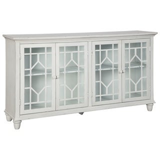 Silver Orchid Brooks White Vintage Casual Accent Cabinet