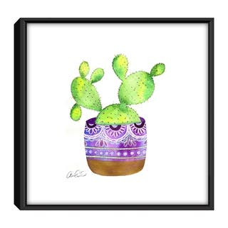 The Curated Nomad 'Boho Cactus' Framed Canvas Print