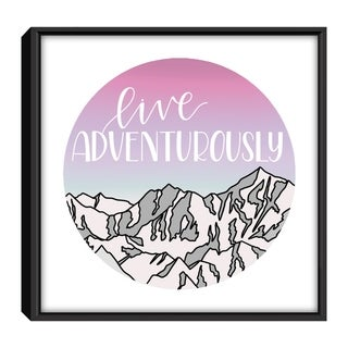 Star Home Décor Live Adventurously Pink By Elyse Burns 12x12 Frame Canvas Print