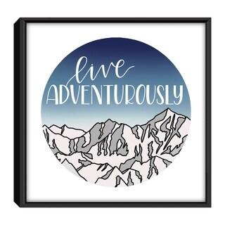 Star Home Décor Live Adventurously Blue By Elyse Burns 12x12 Frame Canvas Print
