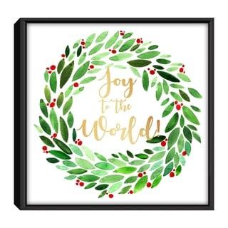 Star Home Décor Joy to the world By Alia Eriksen 12x12 Frame Canvas Print