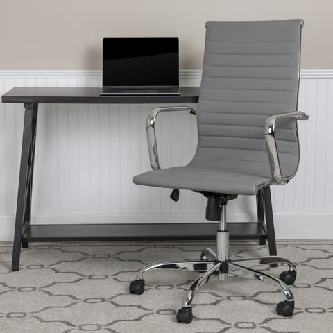 Porch & Den Denfield Leather Office Chair