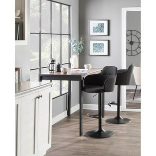 Link to Boyne Upholstered Industrial Swivel Adjustable Bar Stool - N/A Similar Items in Dining Room & Bar Furniture