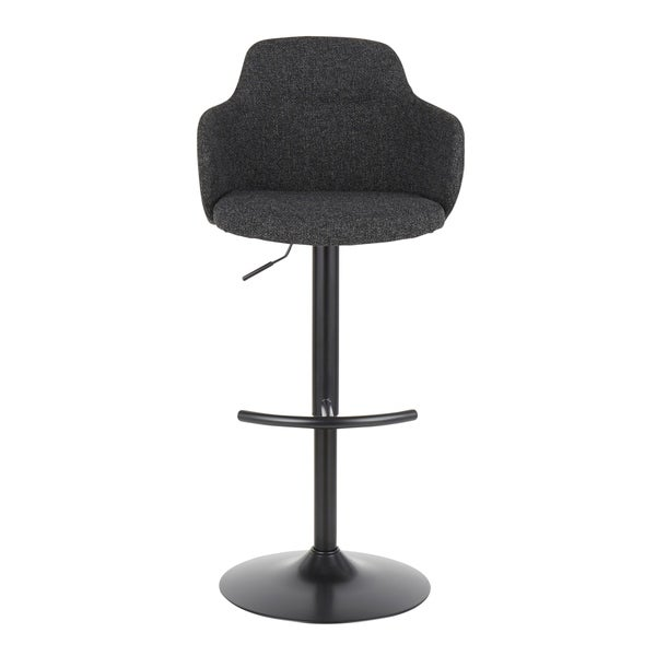Boyne Upholstered Industrial Swivel Adjustable Bar Stool