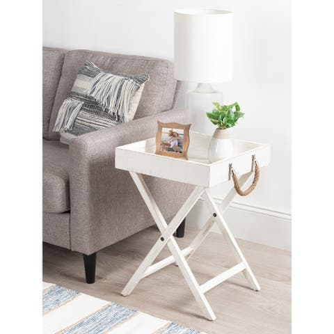Kate and Laurel Bayville Wooden Tray Table - 17x17x24