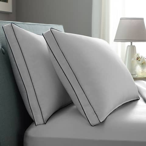 Pacific Coast Double DOWNAROUND Medium 2 Pack Pillow - White/Blue Cord