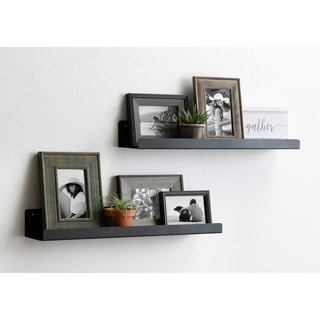 Porch & Den Stringtown Modern Metal Ledge Shelf