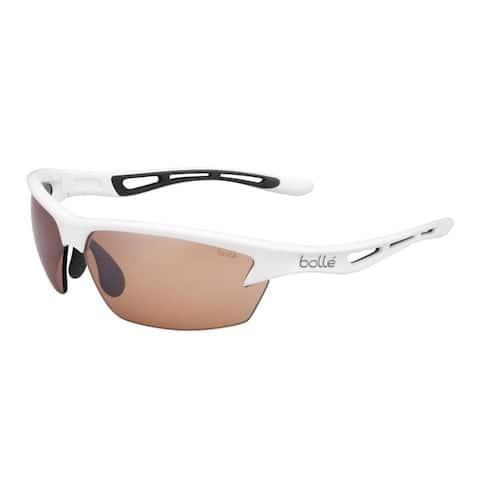 Bolle Bolt 80mm Interchangeable Phantom Sport Sunglasses (Shiny White) - Large