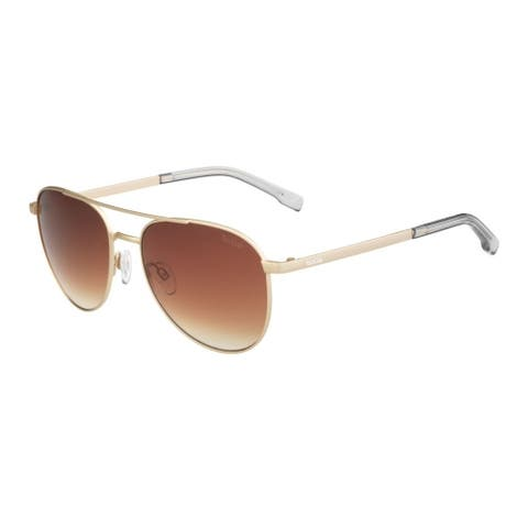 Bolle Evel 54mm Aviator Sunglasses (Matte Sand) - Medium