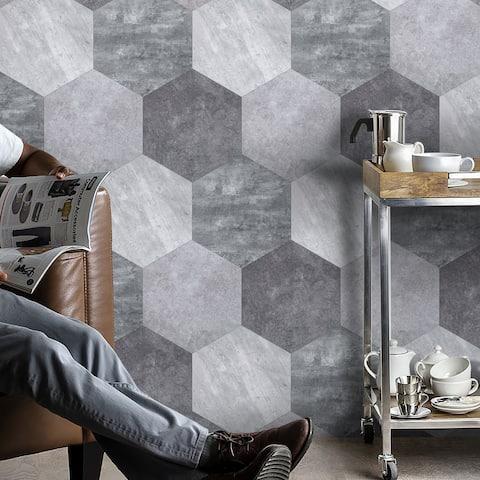 SimpliTILE 10 x 10 Peel & Stick Mosaic Tile (Pack of 10)
