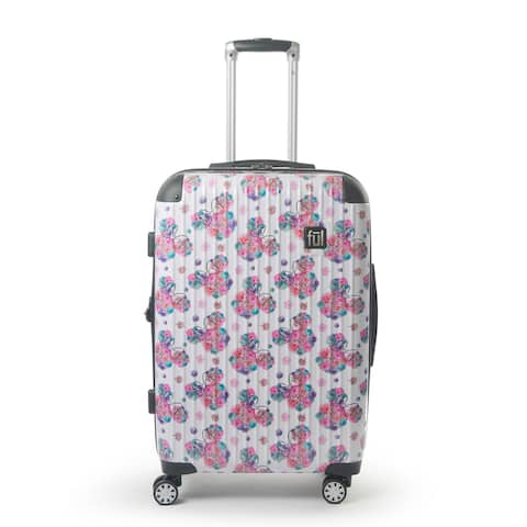 """FUL Disney Minnie Mouse Floral 25"""" Printed Hardsided Rolling Luggage"""