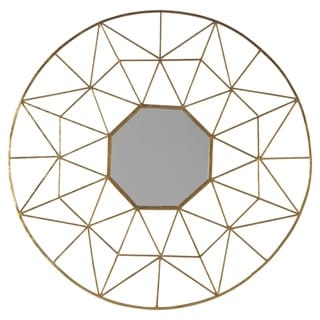 The Curated Nomad Ogden Geometric Goldtone Accent Mirror