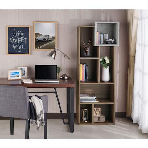 Cornel Modern Two-Tone Geometric Bookcase