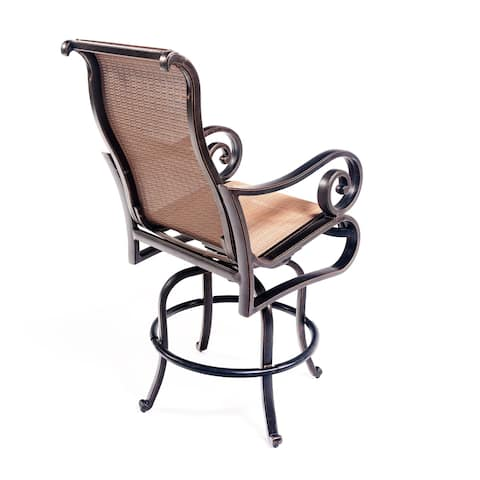 Scituate Aluminum Sling Barstool Chair by Havenside Home