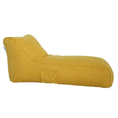 Porch & Den Hoops Sunshine Yellow Chaise Beanbag