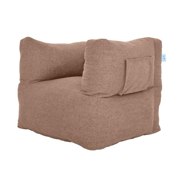 Wood Brown Cozy Nest Beanbag