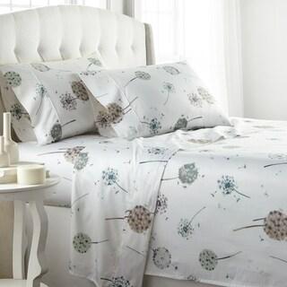 22-inch Extra Deep Pocket Luxury Dandelion Dreams Cotton Sateen Bed Sheet Set