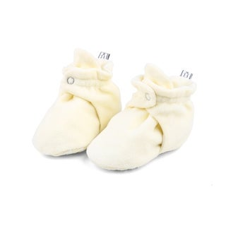 The Peanutshell Ivory Fleece Booties, 12 Months