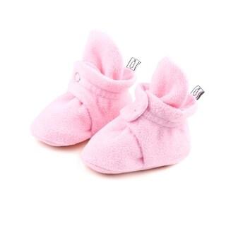 The Peanutshell Pink Fleece Booties, 3 Months