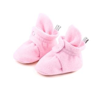 The Peanutshell Pink Fleece Booties, 6 Months