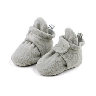 The Peanutshell Grey Fleece Booties, 6 Months