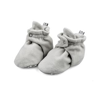The Peanutshell Grey Fleece Booties, 12 Months