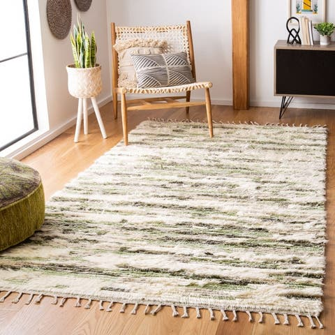 Safavieh Hand-Knotted Manhattan Airina Modern & Contemporary Geometric Wool Rug