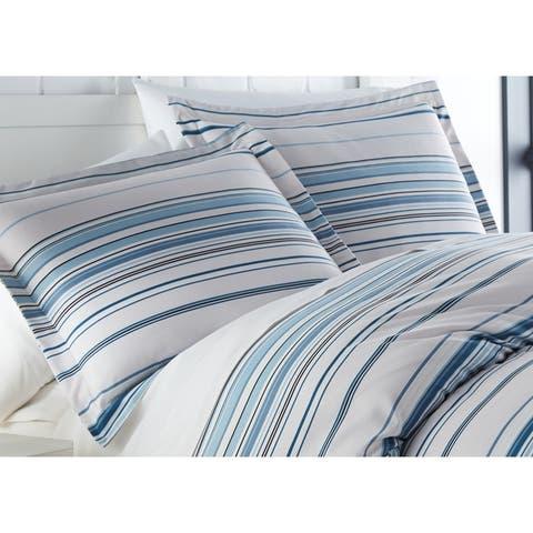 Vilano Ultra-Soft Coastal Stripes 3-piece Duvet Cover and Sham Set