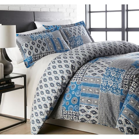 Vilano Ultra-Soft Global Patchwork 3-piece Duvet Cover and Sham Set