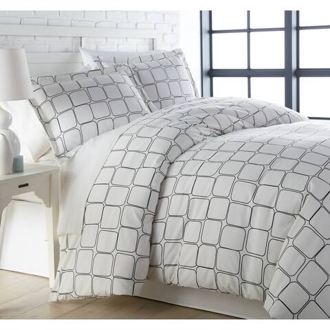 Vilano Ultra-Soft Tilted Tiles 3-piece Duvet Cover and Sham Set