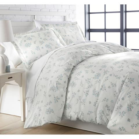 Vilano Ultra-Soft Sweet Florals 3-piece Duvet Cover and Sham Set