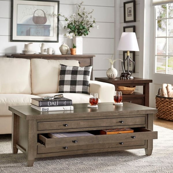 Copper Grove Walnut Cherry Navigator Coffee Table. Opens flyout.