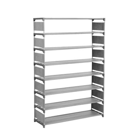 8 Layers Large Capacity for 32 Pairs of Shoes Storage Organizer Portable Shoe Rack Shelf - N/A