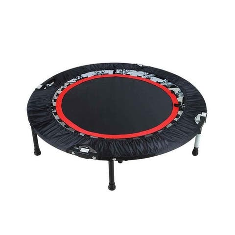 Ancheer Fitness Workout 40 Inch Mini Rebounder Trampoline with Adjustable Handrail