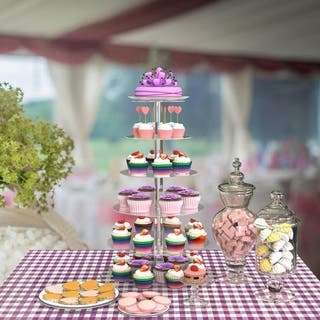 6 Tier Acrylic Round Transparent Cake Stand For Wedding Party Birthday Display