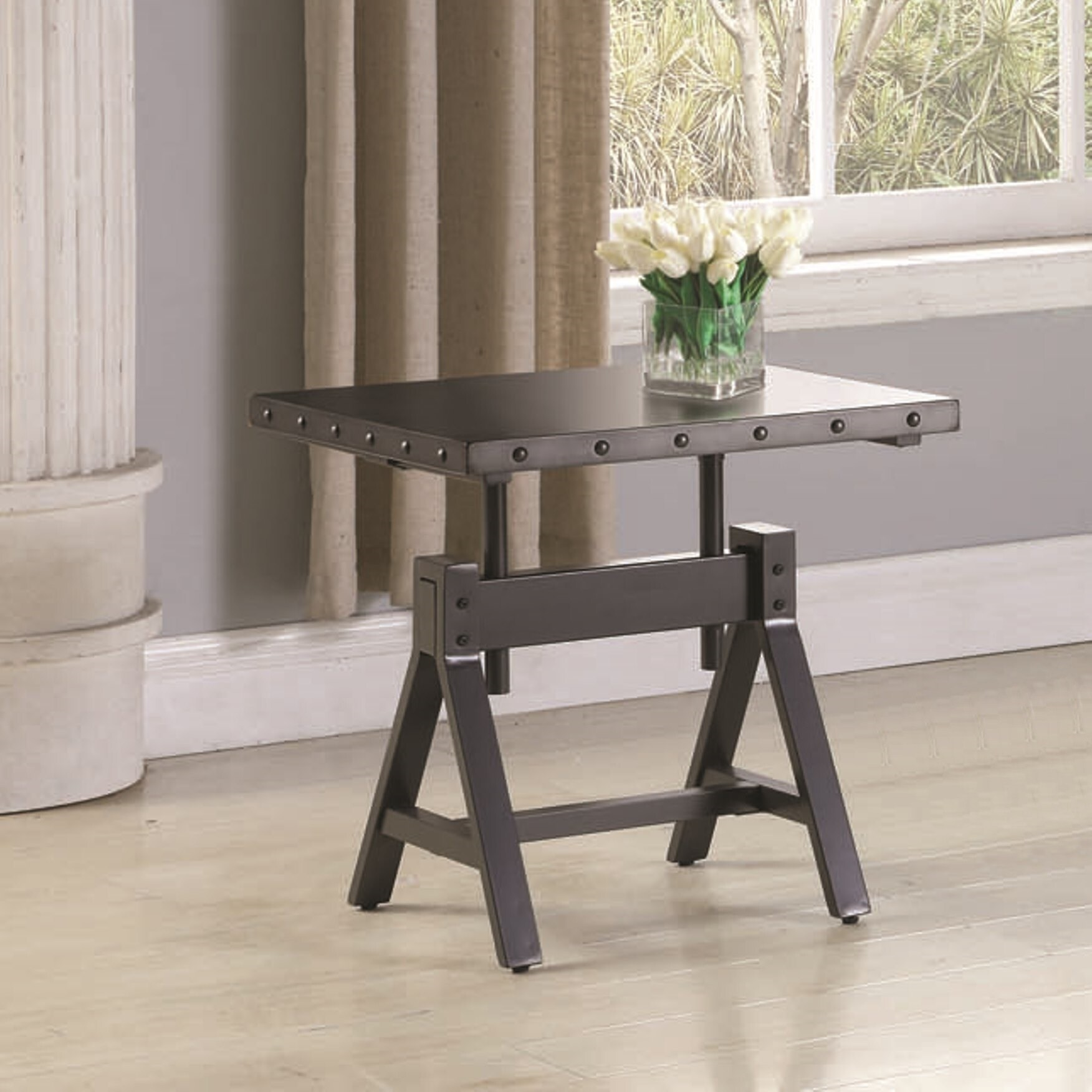 - Shop Industrial Rustic Design Living Room Accent Table - Free