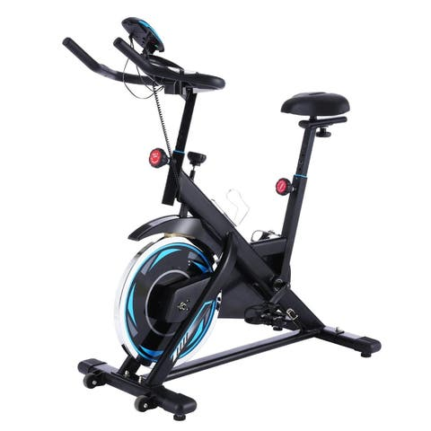Fitness Indoor Cycling Quiet Drive Indoor Exercise Bike with Adjustable Seat - N/A