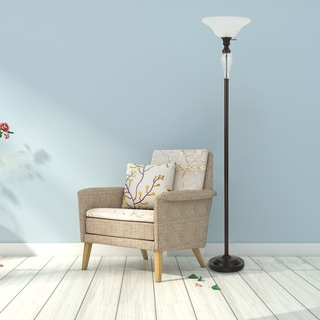 Link to CO-Z 72-inch Antique Oil Rubbed Bronze Torchiere Floor Lamp Similar Items in Floor Lamps