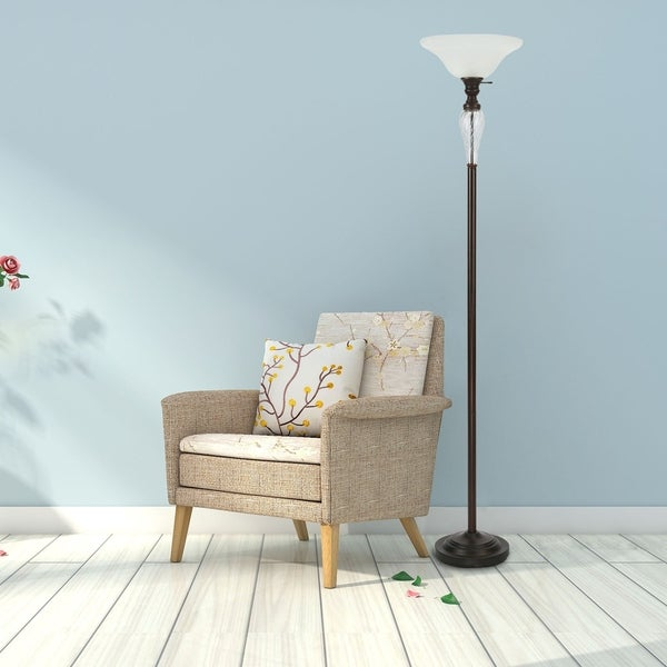 CO-Z 72-inch Antique Oil Rubbed Bronze Torchiere Floor Lamp. Opens flyout.