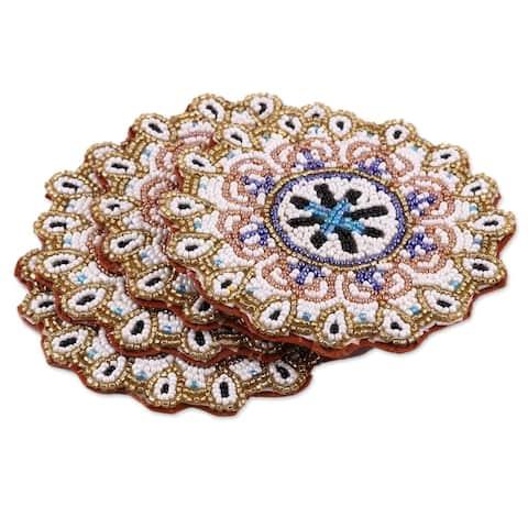 Handmade Beaded Sun Beaded Coasters (india)