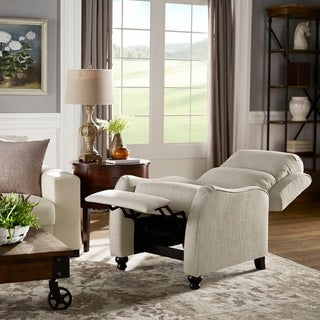 Norman Light Grey Push Back Recliner by iNSPIRE Q Classic