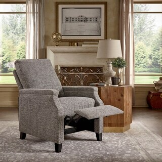 Talin Grey Tweed Fabric Push Back Recliner by iNSPIRE Q Classic