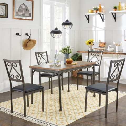Copper Grove Gyumri 5-piece Brown Dining Set
