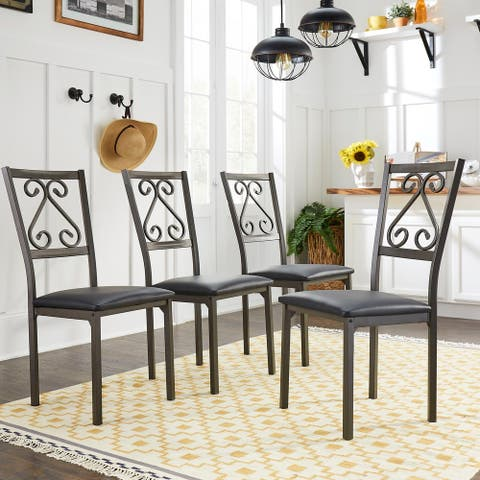 Copper Grove Gyumri Brown Armless Dining Chairs (Set of 4)