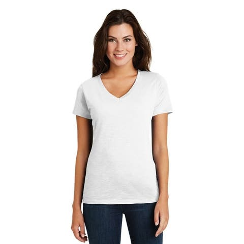 One Country United Women's Super Slub V-Neck Tee