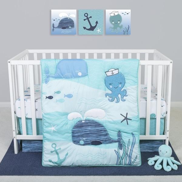 Sammy and Lou Nautical Adventure 4 Piece Crib Bedding Set