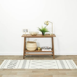 The Curated Nomad Stoneman Diamond Indoor Area Rug
